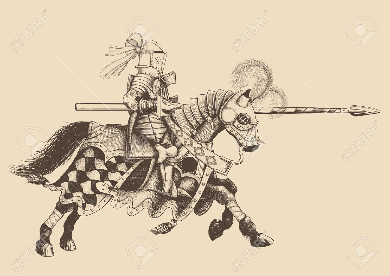 23111752-Horseback-Knight-of-the-tournament-with-a-spear-at-the-ready-galloping-towards-the-opponent-engravin-Stock-Vector.jpg